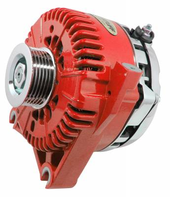 Tuff Stuff Performance - Alternator 200 AMP Upgrade OEM Wire 6 Groove Pulley Internal Regulator Red 7781DRED