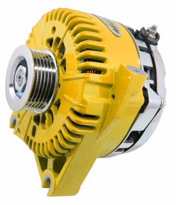 Tuff Stuff Performance - Alternator 200 AMP Upgrade OEM Wire 6 Groove Pulley Internal Regulator Yellow 7781DYELLOW