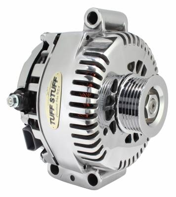 Tuff Stuff Performance - Alternator 200 AMP Upgrade OEM Wire 6 Groove Pulley Internal Regulator Polished 7787DP