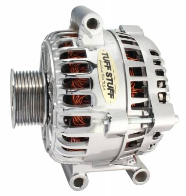 Tuff Stuff Performance - Alternator 150 AMP OEM Wire 8 Groove Pulley Top Mount Internal Regulator Chrome 7796A