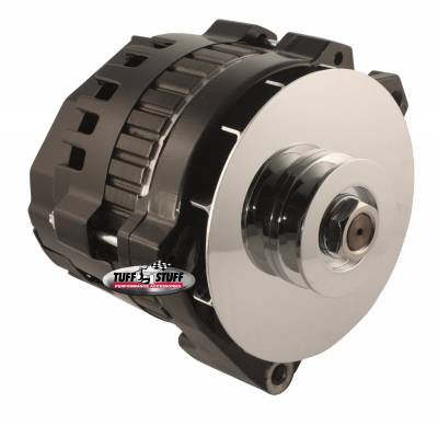 Tuff Stuff Performance - Alternator 140 AMP 1 Wire V Groove Pulley Black 7860G