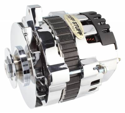 Tuff Stuff Performance - Alternator 140 AMP 1 Wire V Groove Pulley Chrome 7861F