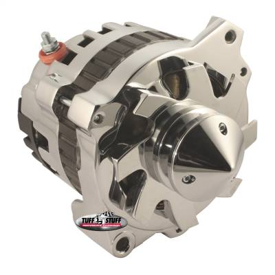 Tuff Stuff Performance - Silver Bullet Alternator 160 AMP 1 Wire V Groove Pulley 6.125 in. Bolt To Bolt Chrome 7866ABULL