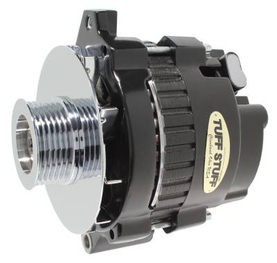 Tuff Stuff Performance - Alternator 160 AMP 1 Wire 6 Groove Pulley 6.125 in. Bolt To Bolt Black 7866G6G