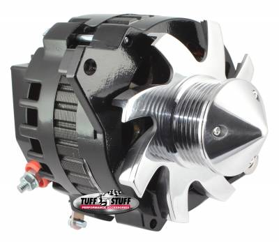 Tuff Stuff Performance - Silver Bullet Alternator 160 AMP 1 Wire 6 Groove Pulley Black 7935CBULL6G