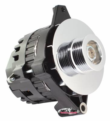 Tuff Stuff Performance - Alternator 105 AMP 1 Wire 6 Groove Pulley Internal And External Cooling Fans Black 7935E6G