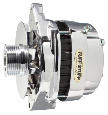 Tuff Stuff Performance - Alternator 250 High AMP OEM Wire 6 Groove Pulley Polished 8112NEP