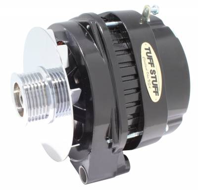 Tuff Stuff Performance - Alternator 140 AMP OEM Wire 6 Groove Pulley Withstands Extreme Conditions Black 8219NB