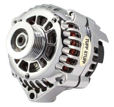 Tuff Stuff Performance - Alternator 105 AMP OEM Wire 6 Groove Pulley Chrome 8233NA