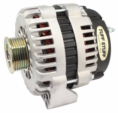 Tuff Stuff Performance - Alternator 105 AMP OEM Wire 6 Groove Pulley Heavy Duty Ball Bearings As Cast 8238
