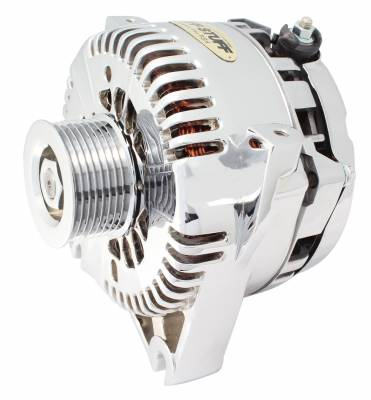 Tuff Stuff Performance - Alternator 200 AMP Upgrade OEM Wire 8 Groove Pulley Aluminum Polished 8251DP