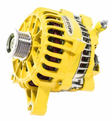 Tuff Stuff Performance - Alternator 200 AMP Upgrade OEM Wire 6 Groove Pulley Yellow 8252DYELLOW