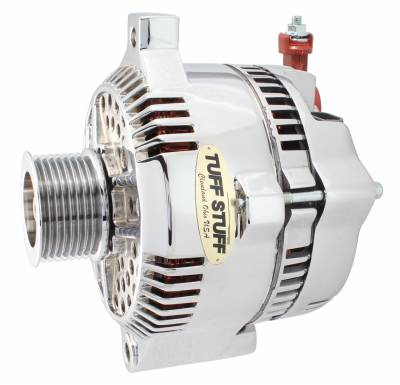 Tuff Stuff Performance - Alternator 200 AMP OEM Wire 8 Groove Pulley Polished 8266DP8G