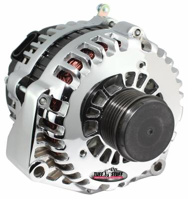 Tuff Stuff Performance - Alternator 200 AMP OEM Wire 6 Groove Clutch Pulley Polished 8299DP