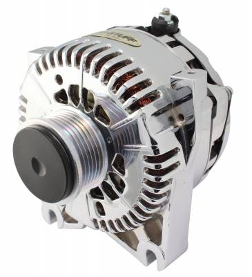 Tuff Stuff Performance - Alternator 200 AMP OEM Wire 6 Groove Clutch Pulley Aluminum Polished 8436DP