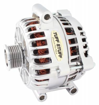 Tuff Stuff Performance - Alternator 200 AMP OEM Wire 6 Groove Pulley Aluminum Polished 8437DP
