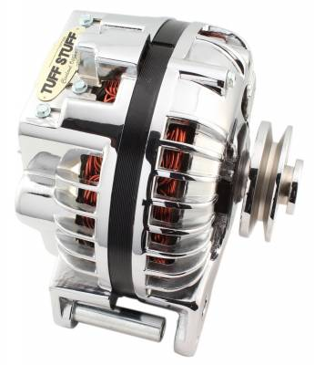 Tuff Stuff Performance - Alternator 100 AMP 1 Wire Single Groove Pulley Chrome 8509RDSP