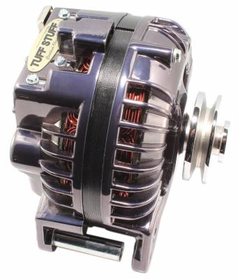 Tuff Stuff Performance - Alternator 100 AMP 1 Wire Single Groove Pulley Black Chrome 8509RDSP7