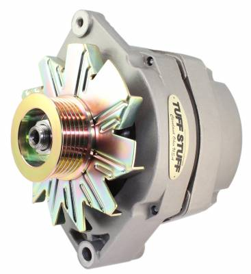 Tuff Stuff Performance - Alternator 100 AMP OEM Or 1 Wire 6 Groove Pulley Internal Regulator As Cast 12 Clocking 7127D6G12
