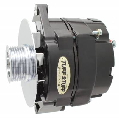 Tuff Stuff Performance - Alternator 140 AMP OEM Or 1 Wire 6 Groove Pulley Stealth Black 12 Clocking 7127NKB6G12