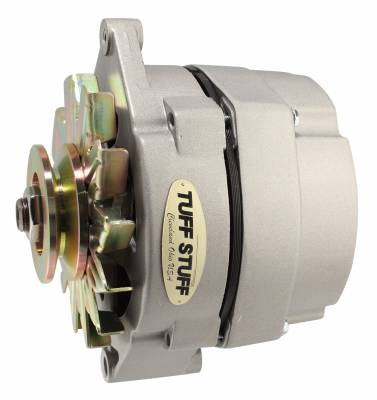 Tuff Stuff Performance - Alternator 140 AMP OEM Or 1 Wire V Groove Pulley Internal Regulator As Cast 9 Clocking 7127K9