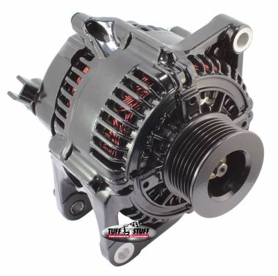 Tuff Stuff Performance - Alternator 175 AMP Upgrade OEM Wire 7 Groove Pulley Internal Regulator Stealth Black 7510E