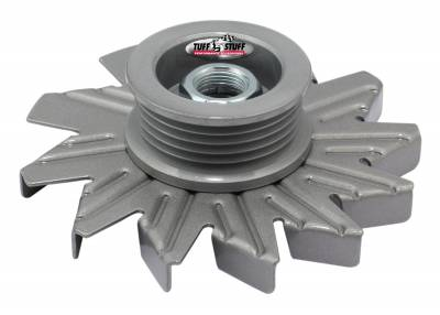 Tuff Stuff Performance - Alternator Fan And Pulley Combo 5 Groove Serpentine Pulley Incl. Fan/Lock Washer/Nut As Cast 7600CC