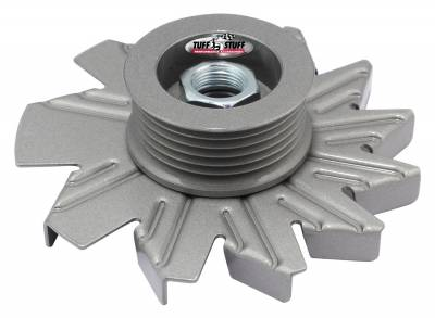 Tuff Stuff Performance - Alternator Fan And Pulley Combo 6 Groove Serpentine Pulley Incl. Fan/Lock Washer/Nut As Cast 7600DC