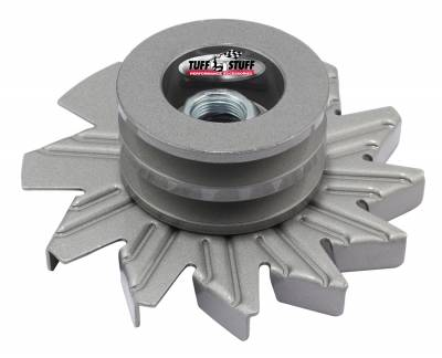 Tuff Stuff Performance - Alternator Fan And Pulley Combo Double V Groove Pulley Incl. Fan/Lock Washer/Nut As Cast 7600BC
