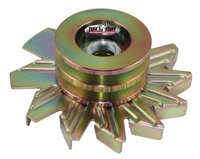 Tuff Stuff Performance - Alternator Fan And Pulley Combo Double V Groove Pulley Incl. Fan/Lock Washer/Nut Gold Zinc 7600BD