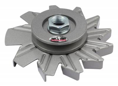 Tuff Stuff Performance - Alternator Fan And Pulley Combo Single V Groove Pulley Incl. Fan/Lock Washer/Nut As Cast 7600AC