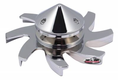 Tuff Stuff Performance - Alternator Fan And Pulley Combo Universal Single V Groove Pulley Incl. Fan/Lock Washer/Nut Chrome Plated CS 130 Fits PN[7860/7861/7866/7935] 7666A