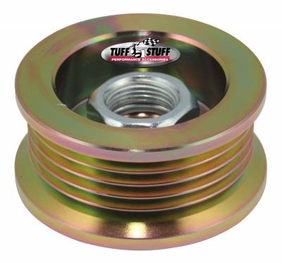 Tuff Stuff Performance - Alternator Pulley 2.25 in. 5 Groove Serpentine Incl. Lock Washer/Nut Gold Zinc 7610BD