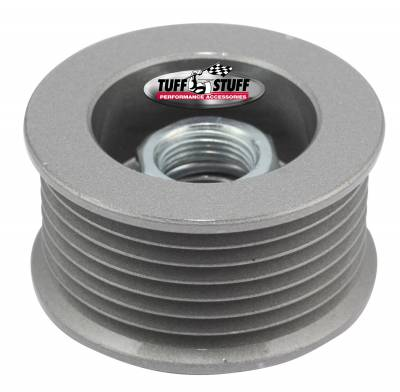 Tuff Stuff Performance - Alternator Pulley 2.25 in. 7 Groove Serpentine Incl. Lock Washer/Nut As Cast 7610CC