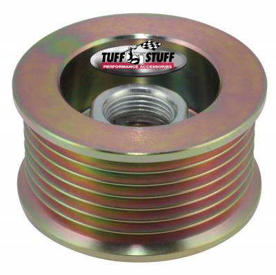 Tuff Stuff Performance - Alternator Pulley 2.25 in. 7 Groove Serpentine Incl. Lock Washer/Nut Gold Zinc 7610CD