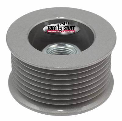 Tuff Stuff Performance - Alternator Pulley 2.25 in. 8 Groove Serpentine Incl. Lock Washer/Nut As Cast 7610DC