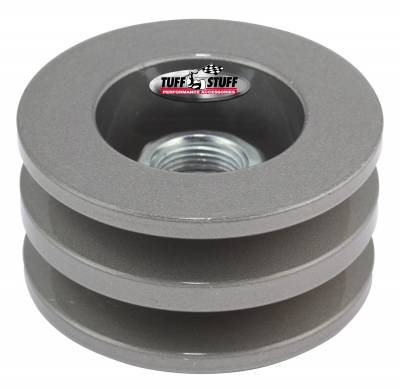 Tuff Stuff Performance - Alternator Pulley 2.25 in. Double V Groove Incl. Lock Washer/Nut As Cast 7610FC