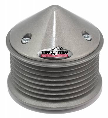 Tuff Stuff Performance - Alternator Pulley And Bullet Cover 2.25 in. Pulley 8 Groove Serpentine Incl. Lock Washer/Nut As Cast 7655D