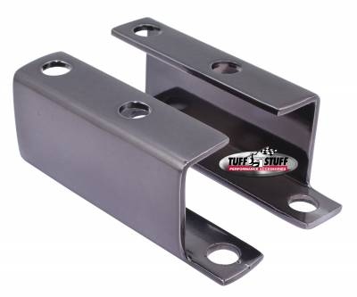 Tuff Stuff Performance - Brake Booster Brackets Incl. Left And Right Side 1955-1958 GM For Brake Booster PN[2121/2122/2123/2221/2222/2223] Black Chrome 4652A7