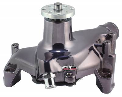 Tuff Stuff Performance - Platinum SuperCool Water Pump 6.937 in. Hub Height 5/8 in. Pilot Long Flat Smooth Top Black Chrome 1448NA7