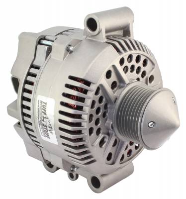 Tuff Stuff Performance - Silver Bullet Alternator 225 AMP Upgrade OEM Wire 7 Groove Pulley Internal Regulator As Cast 7768EBULL