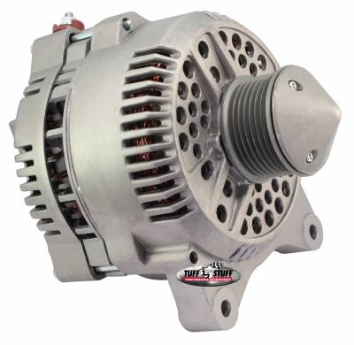 Tuff Stuff Performance - Silver Bullet Alternator 225 AMP Upgrade OEM Wire 7 Groove Pulley Internal Regulator As Cast 7764EBULL
