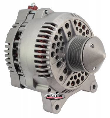Tuff Stuff Performance - Silver Bullet Alternator 225 AMP Upgrade OEM Wire 8 Groove Pulley Internal Regulator As Cast 7791FBULL