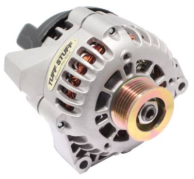 Tuff Stuff Performance - Alternator 175 AMP Upgrade 1-Wire Or OEM Wire 6 Groove Pulley LS1 Engine Only Factory Cast PLUS+ 8242ND