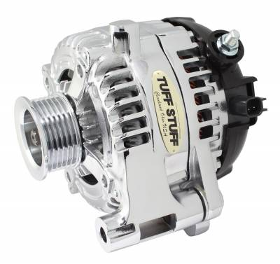 Tuff Stuff Performance - Alternator 250 AMP OEM Wire 6 Groove Pulley Chrome Plated Internal Regulator 7516C