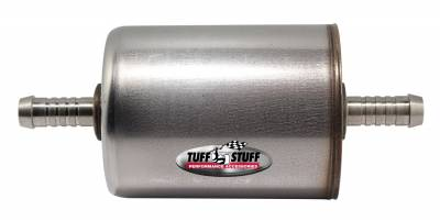 Tuff Stuff Performance - Power Steering Hydraulic Filter Universal 3/8 in. Inline Power Steering Filter Fits 3/8 in. Outside Diameter Line/3/8in. Inside Diameter Hose Dual Action With Internal Magnet 5559