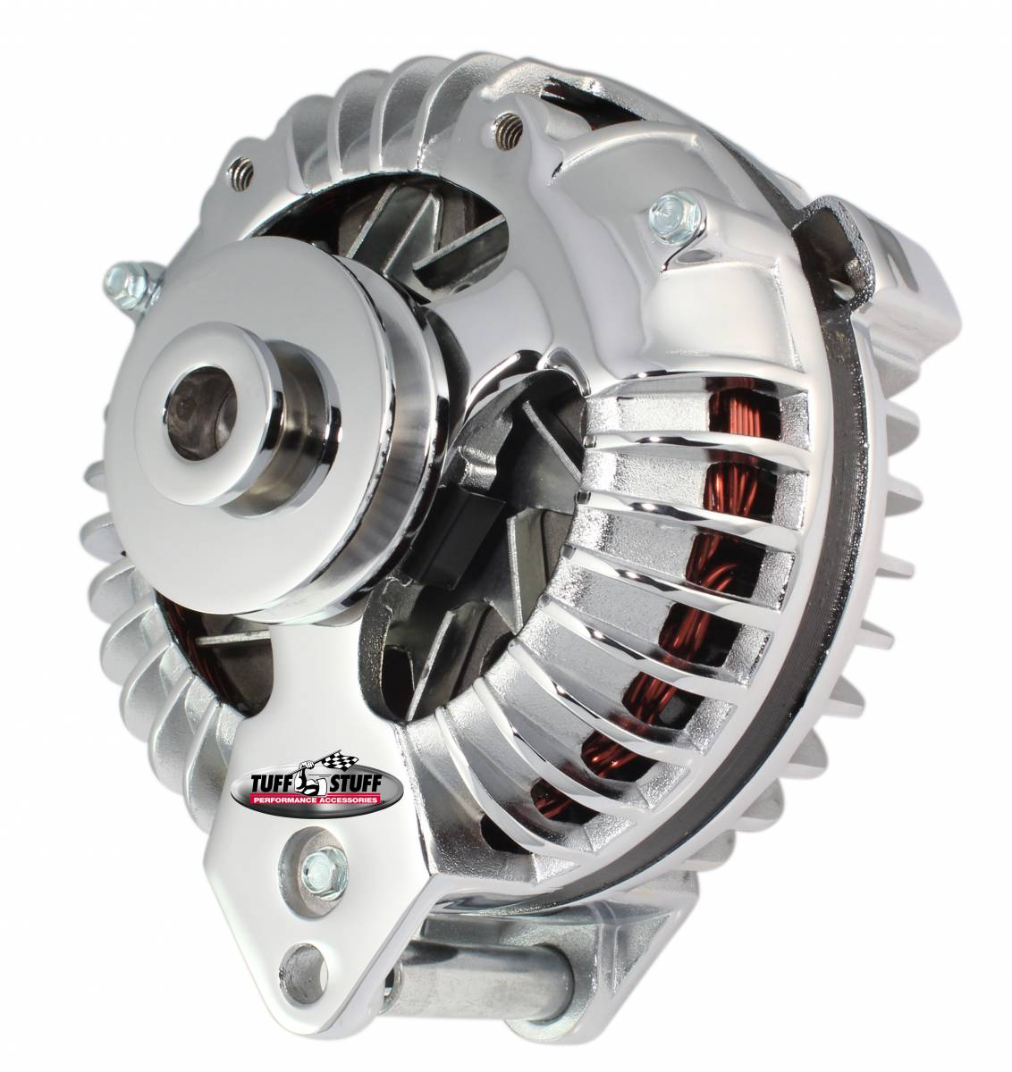 Tuff Stuff Performance - Alternator 100 AMP OEM Wire Single Groove Pulley Chrome 8509RCSP
