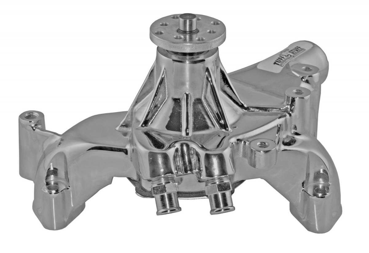 Tuff Stuff Performance - Platinum SuperCool Water Pump 7.281 in. Hub Height 5/8 in. Pilot Long (2) Threaded Water Ports Aluminum Casting Polished 1461AB