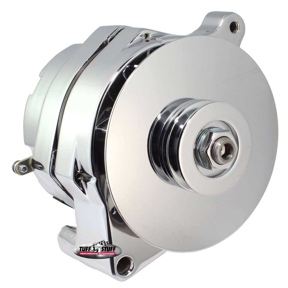 Tuff Stuff Performance - Alternator Smooth Back 1 Wire 100 AMP V Groove Pulley Chrome 7068RD