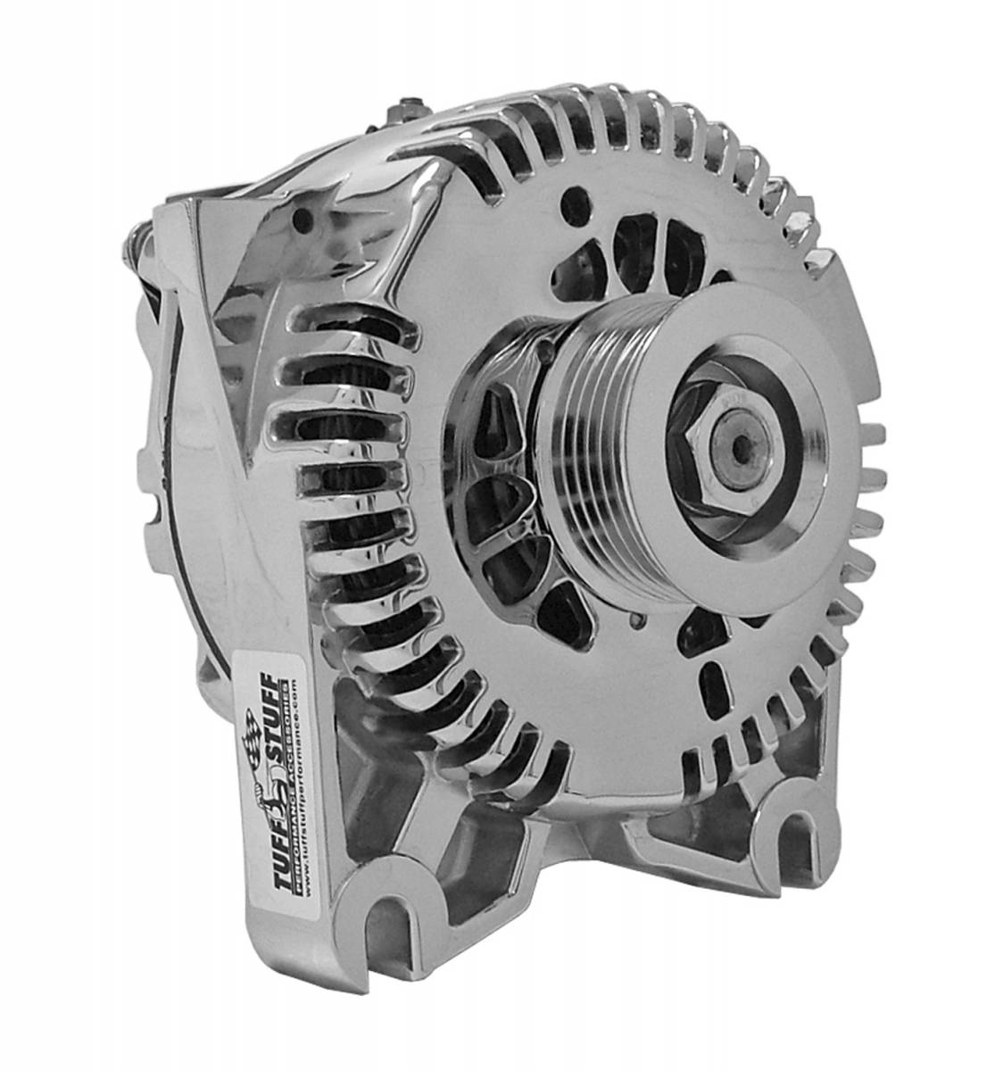 Tuff Stuff Performance - Alternator 225 AMP OEM Wire 6 Groove Clutch Pulley Chrome 8436D